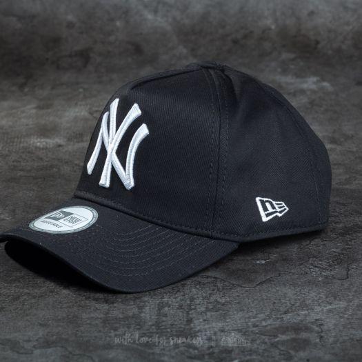 New Era 9Forty A-Frame Adjustable New York Yankees Cap Black  White ... 8329d3665fc