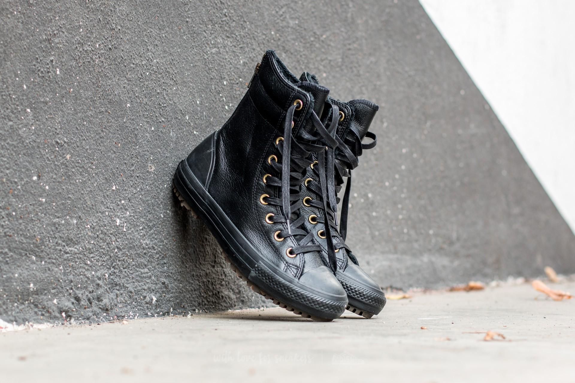 Converse CT AS Hi-Rise Boot Leather Fur Black/ Black/ Black | Footshop