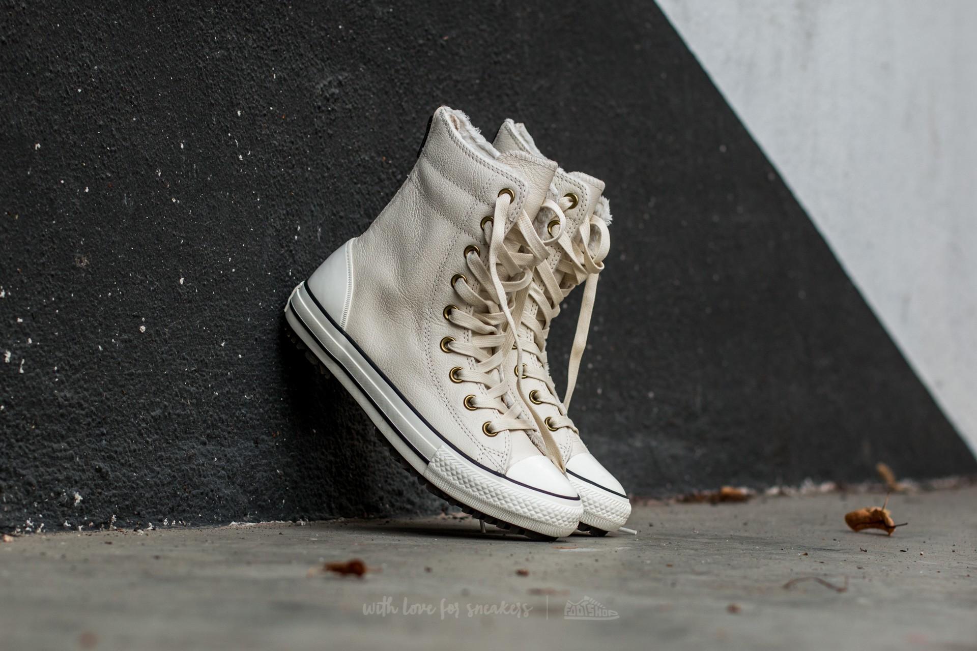 4466561d928bbb Converse CT AS Hi-Rise Boot Leather+Fur Parchment  Black  Egret ...