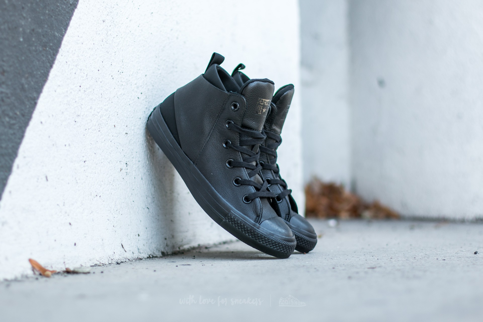 Converse Chuck Taylor AS Sloane Monochrome Leather Black  Black  Black 8e820dd550