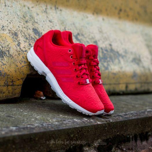 adidas ZX Flux W Vivid Red Vivid Red Core Black | Footshop