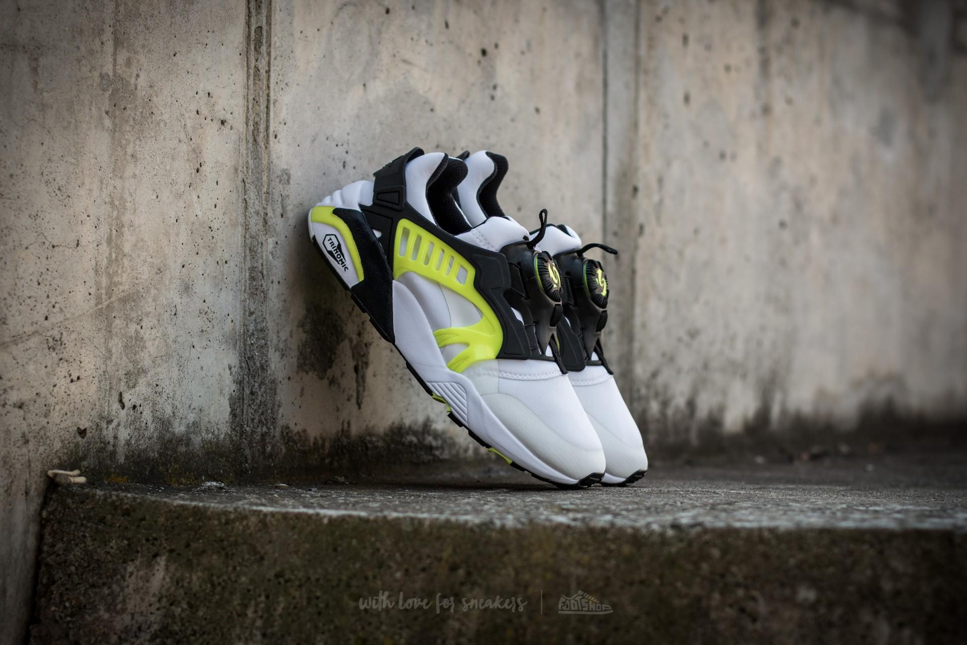 Puma Disc Blaze Electric White Black Safety Yellow | Footshop