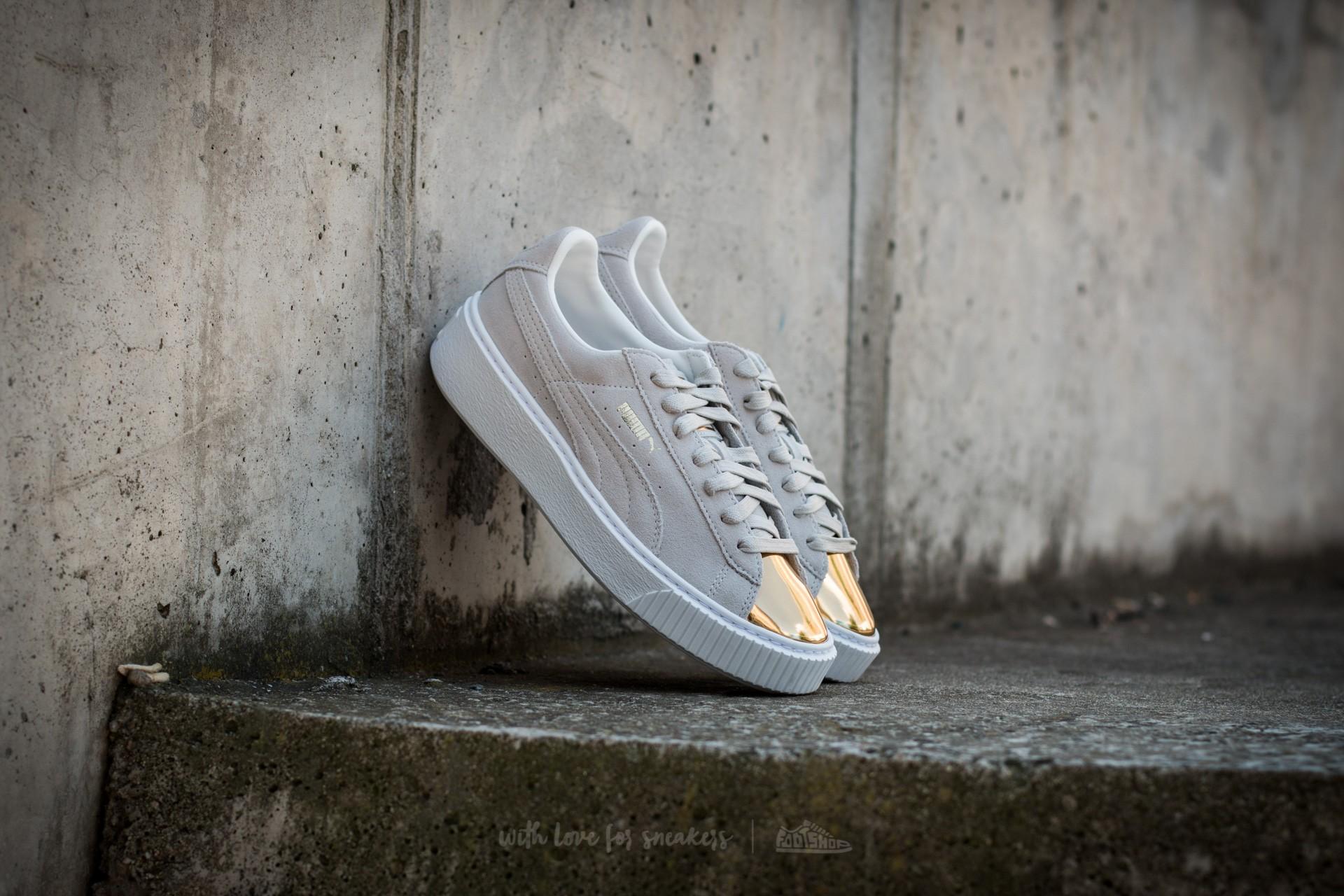 Puma Suede Platform Gold Gold-Star White-Puma White  e79c299d108