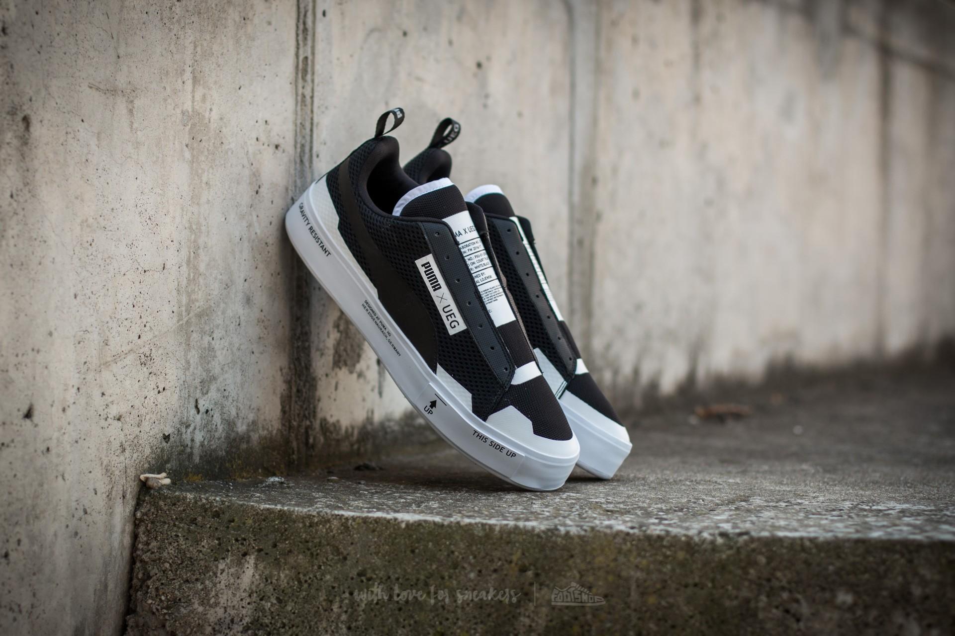 e21e9e1376c8c0 Puma Court Play SlipOn x UEG Puma Black-Puma White