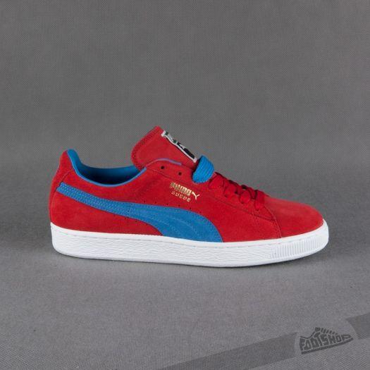 pretty nice b5c73 9e885 Puma Suede Classic+ high risk red-french blue   Footshop