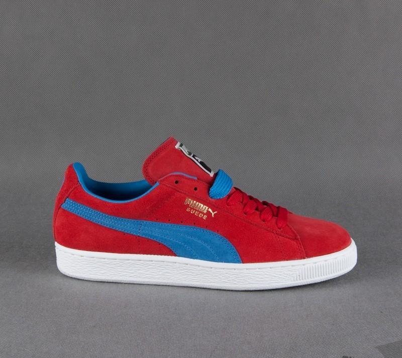 f248628370a6 Puma Suede Classic+ high risk red-french blue