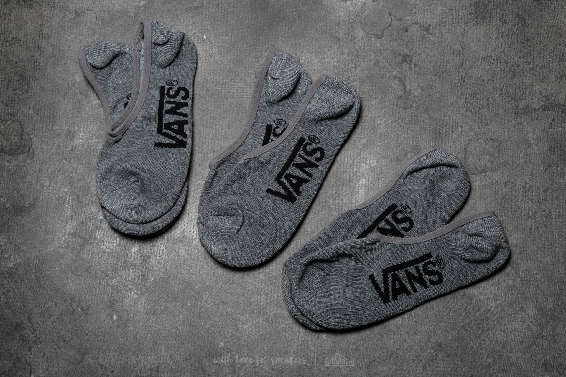 Vans Classic Super No S Heather Grey 3 Pairs Socks