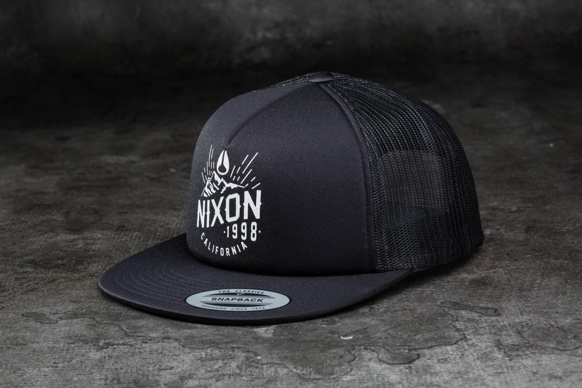 Nixon Ridge Trucker Hat All Black  4b2e5c499ba