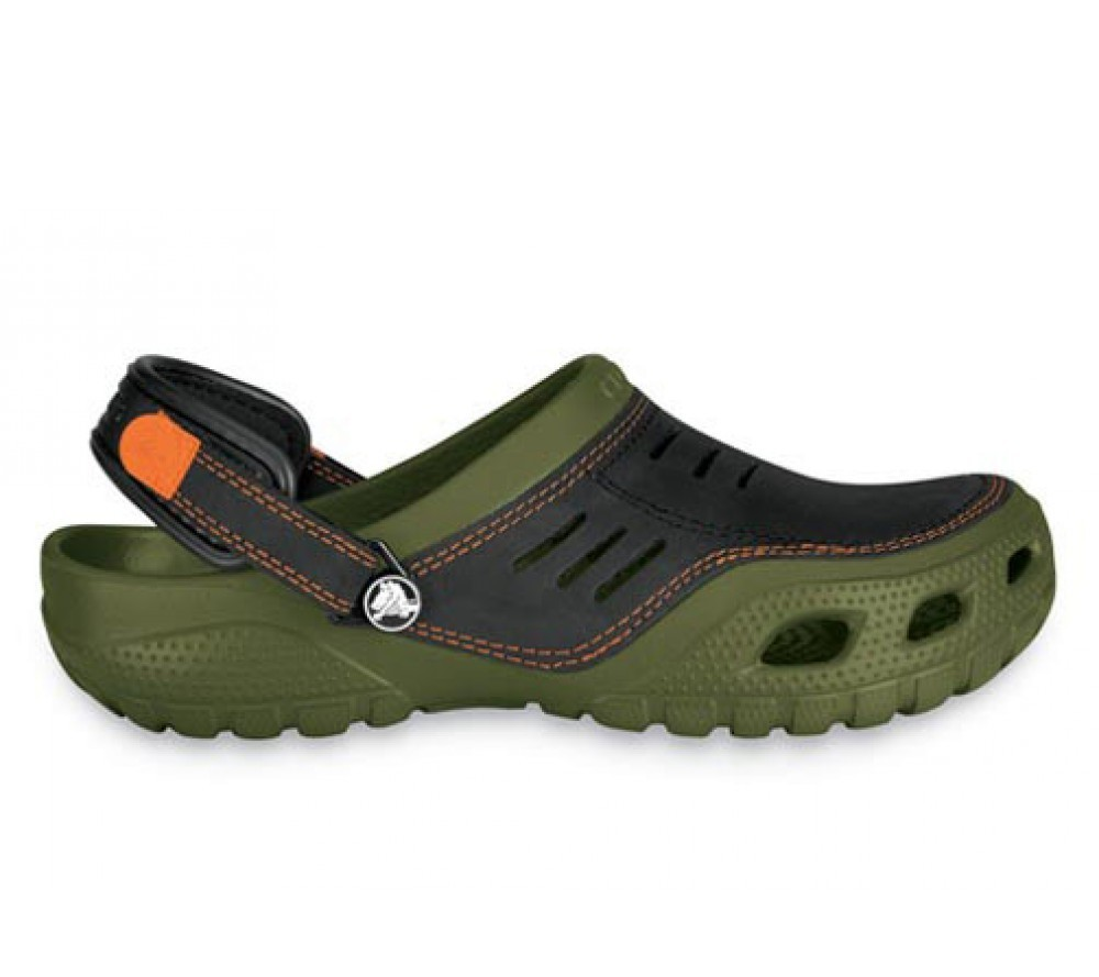 2ea547624b48 Crocs Yukon Sport Army Green Black