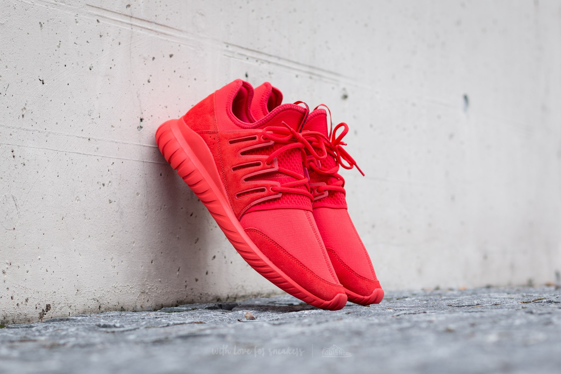 adidas Tubular Radial Red/ Red/ Core Black