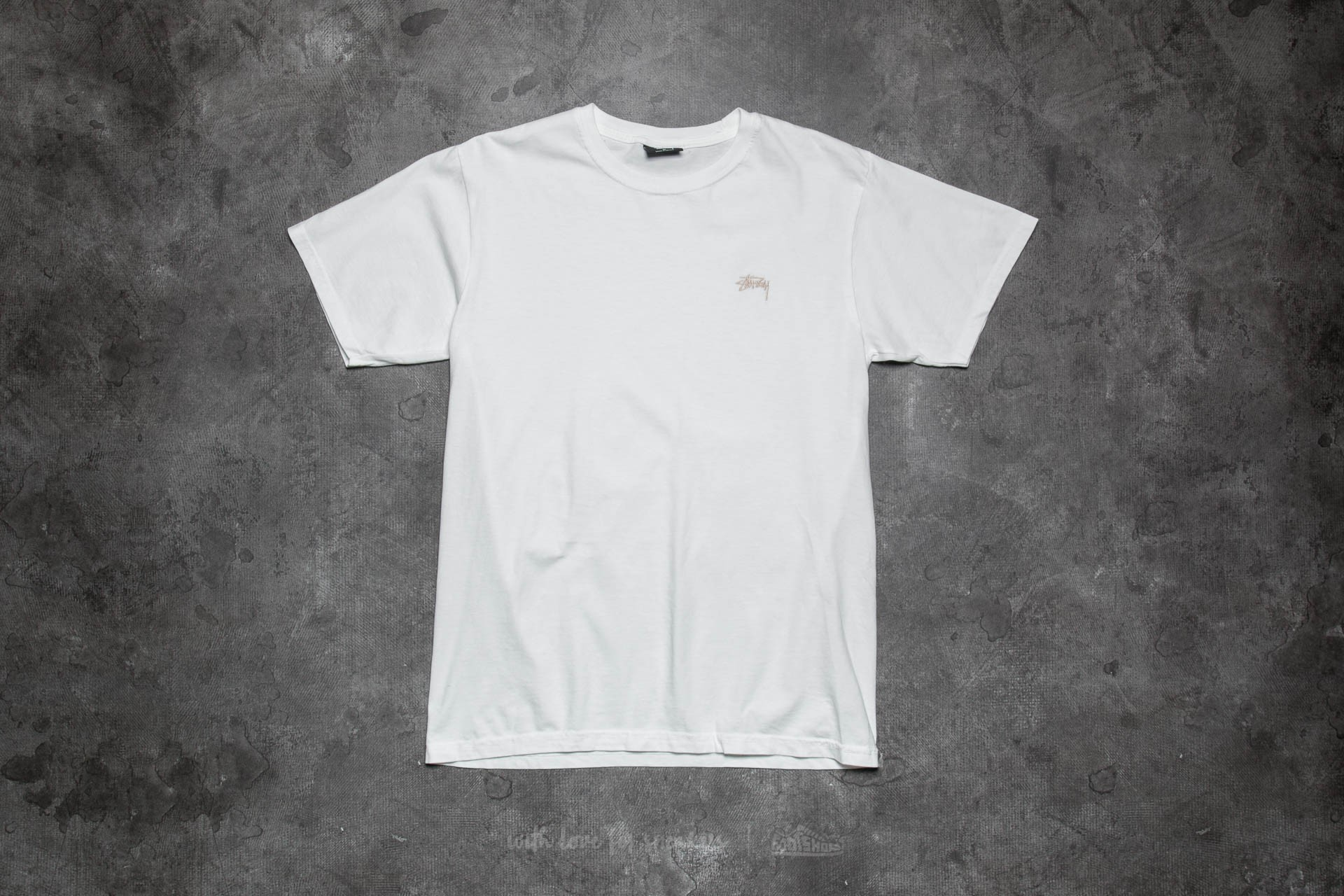 a12cfcba Stüssy Small Stock Pigment Dyed Tee Natural | Footshop