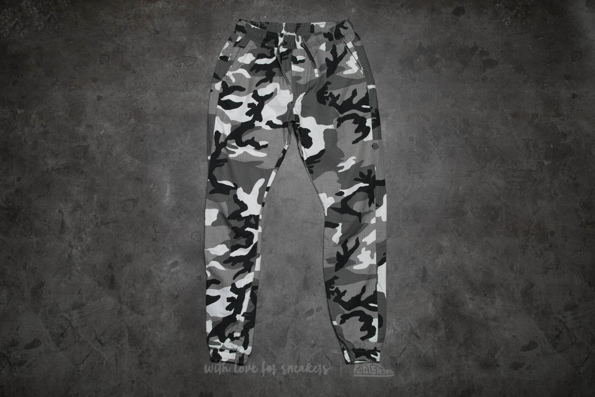 Džíny a kalhoty Urban Classics Camo Ripstop Jogging Pants Snow Camo