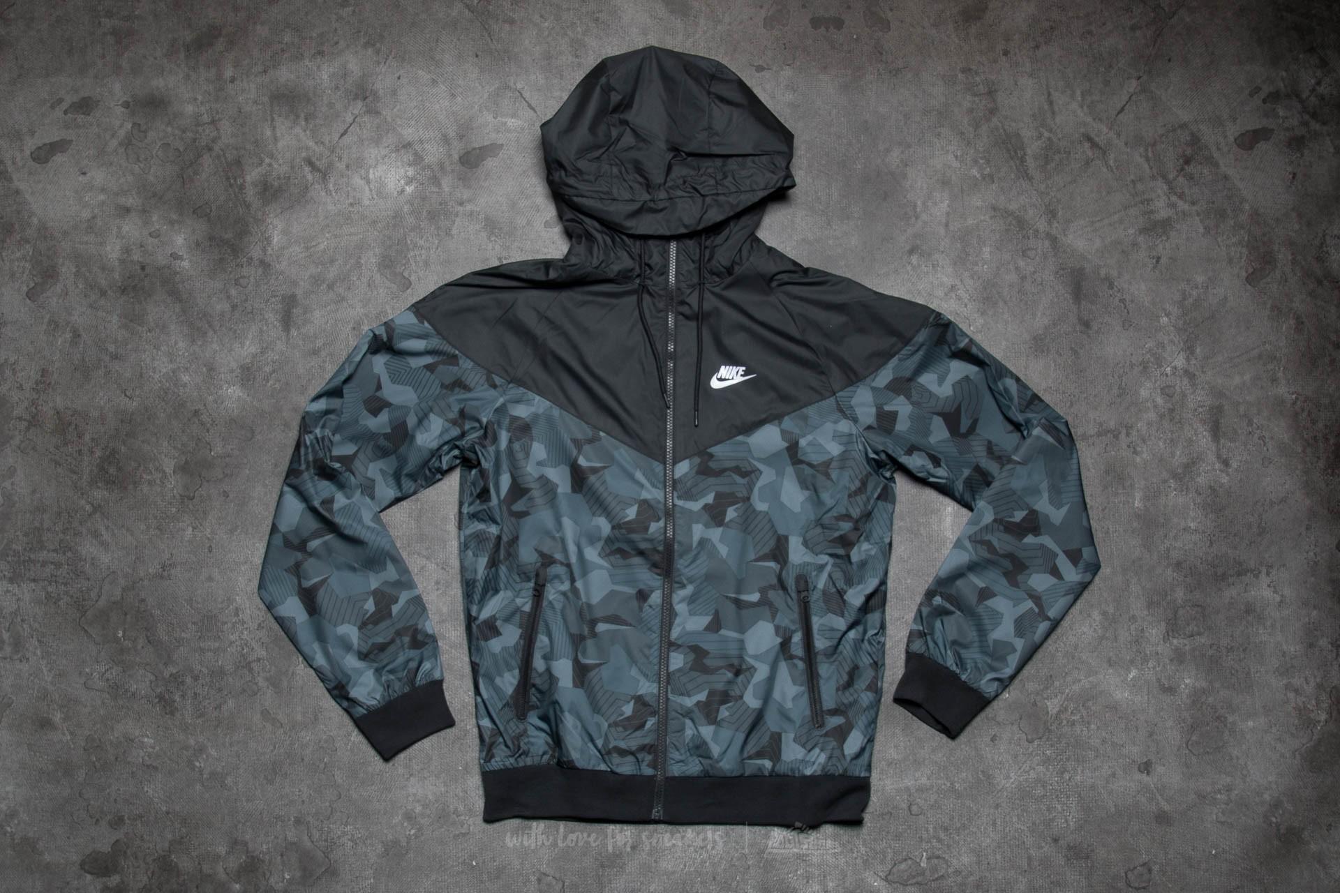 c5cee02e1a83 Nike Sportswear Windrunner AOP Badlands Black  White