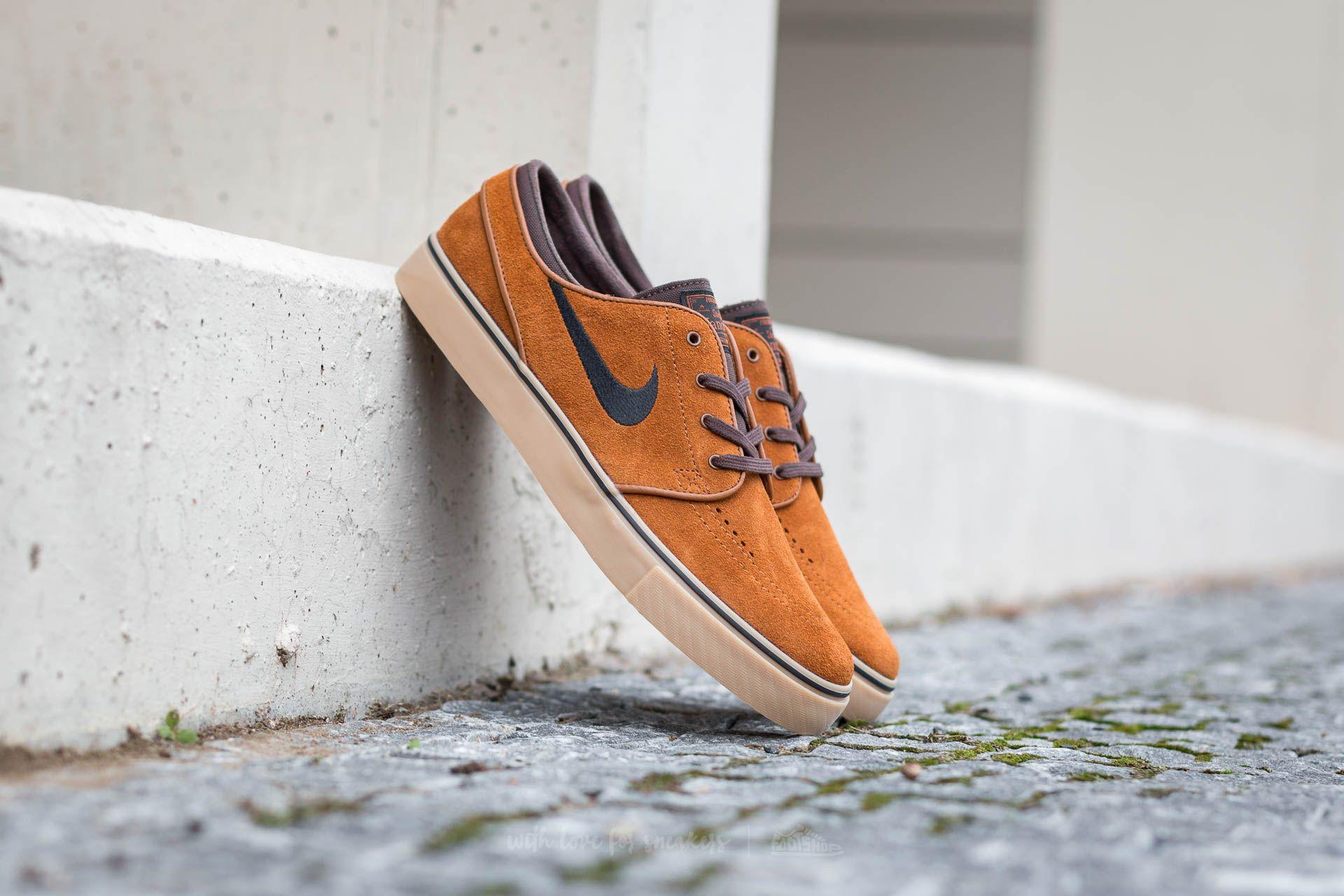 la nieve Educación Colonos  Men's shoes Nike Zoom Stefan Janoski Hazelnut/ Black-Baroque Brown-Gum  Light Brown