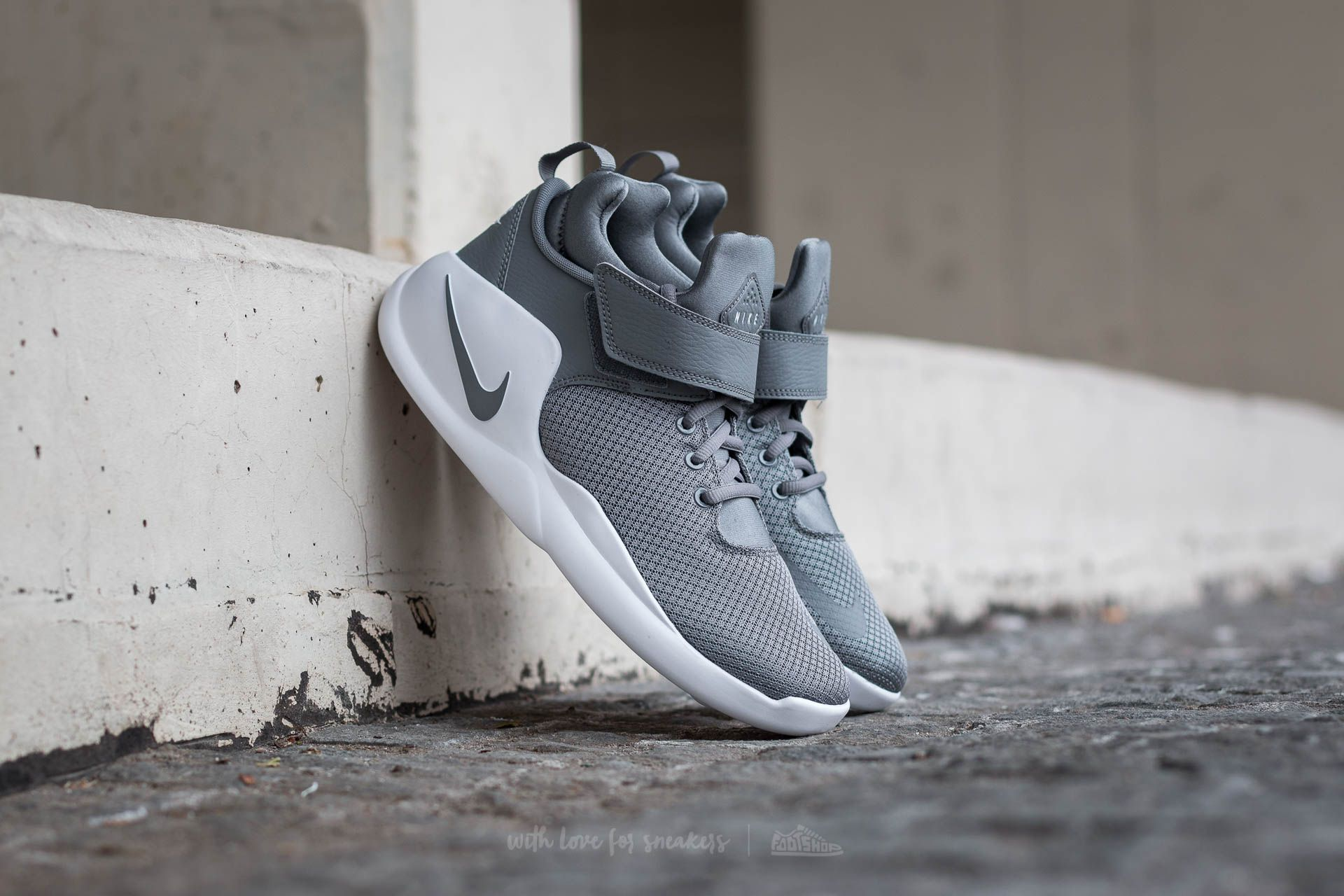 3553af494935 Nike Kwazi (GS) Cool Grey  Cool Grey-White