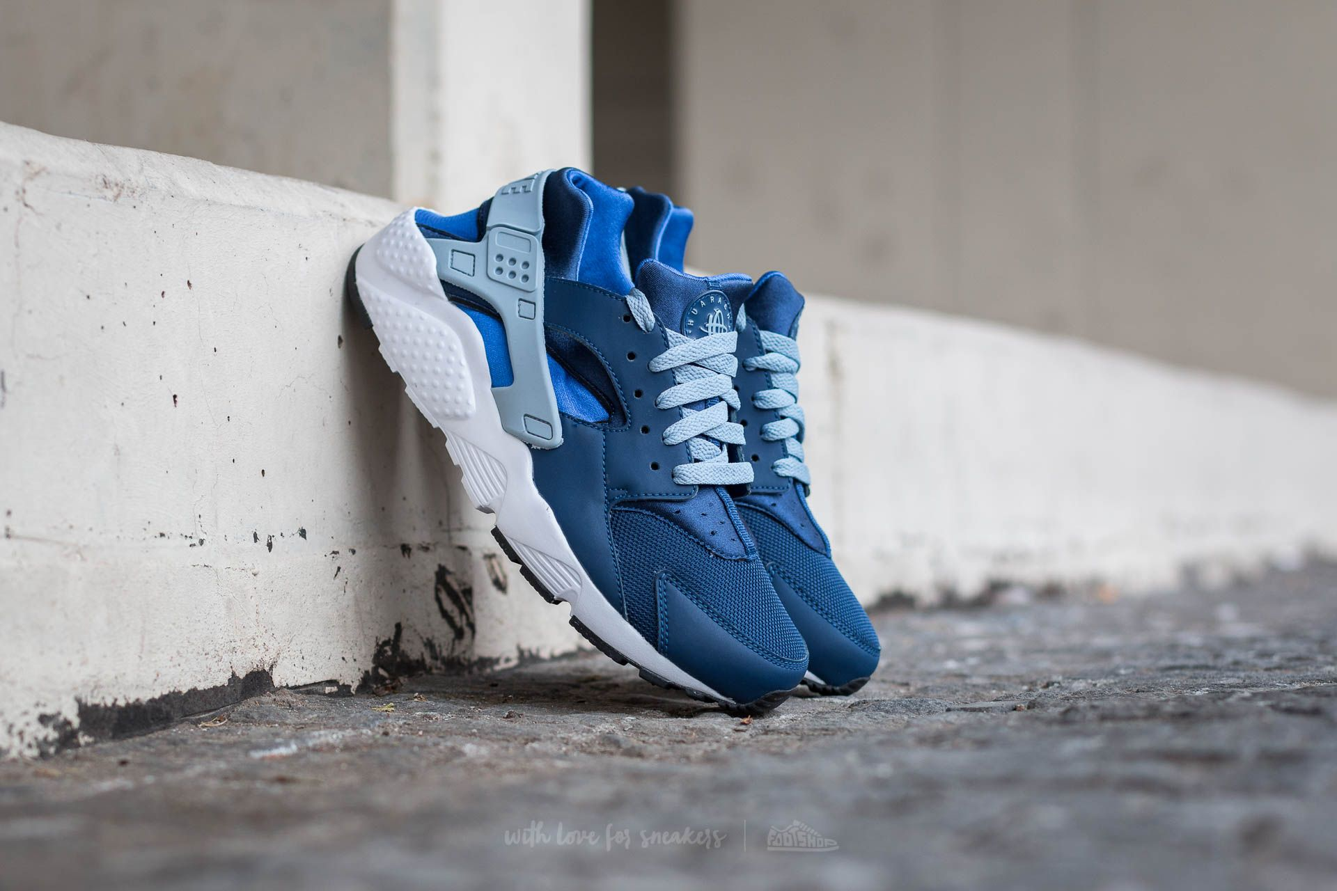 Nike Huarache Run (GS) Coastal Blue/ Blue Grey | Footshop