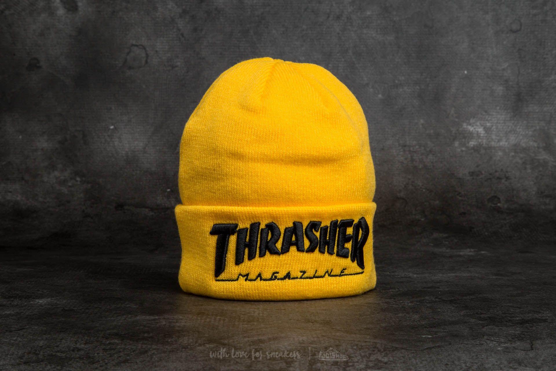 bc1c1652e Thrasher Embroidered Logo Beanie Yellow/ Black | Footshop