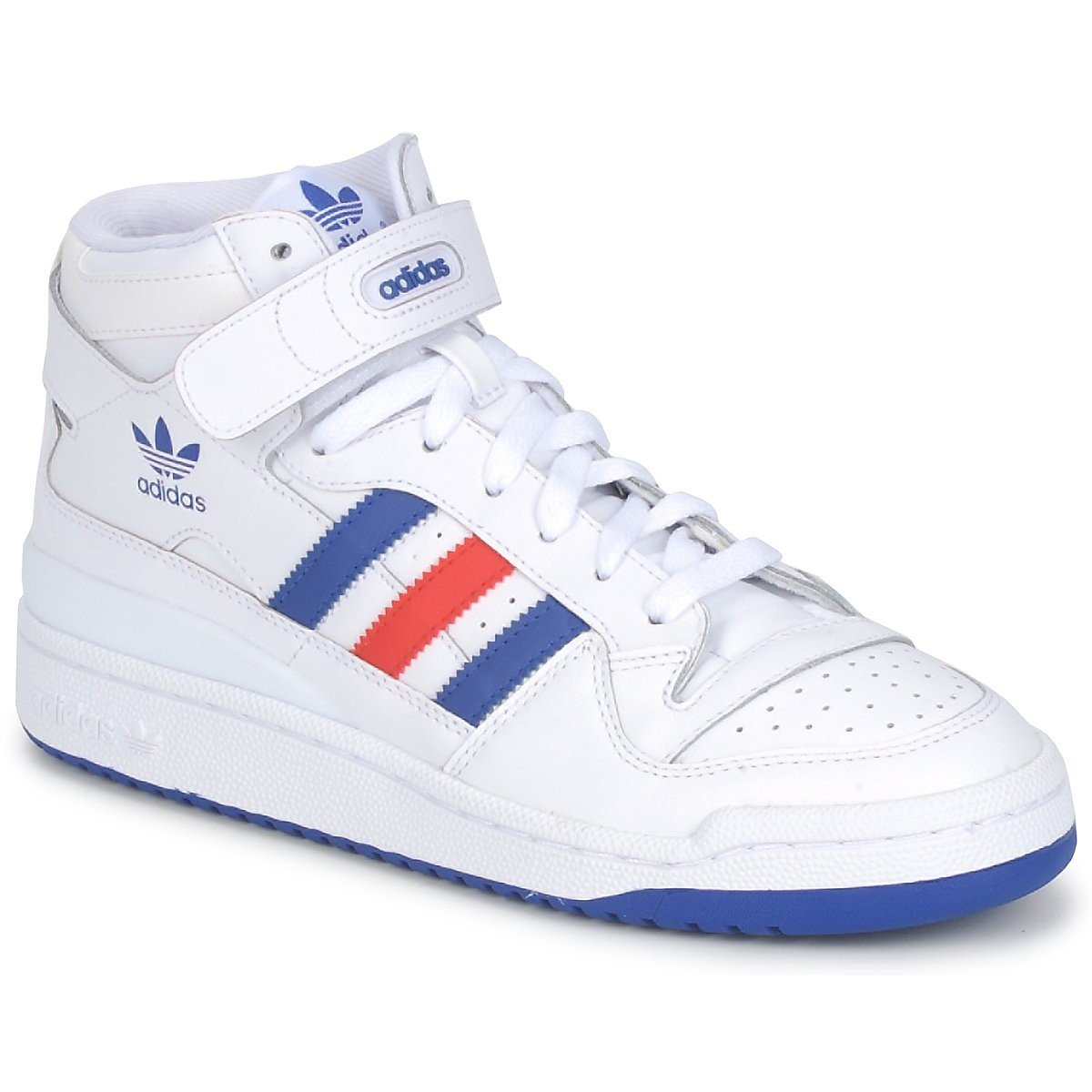 new style fa50c 4378a adidas Forum Mens Mid Top. white