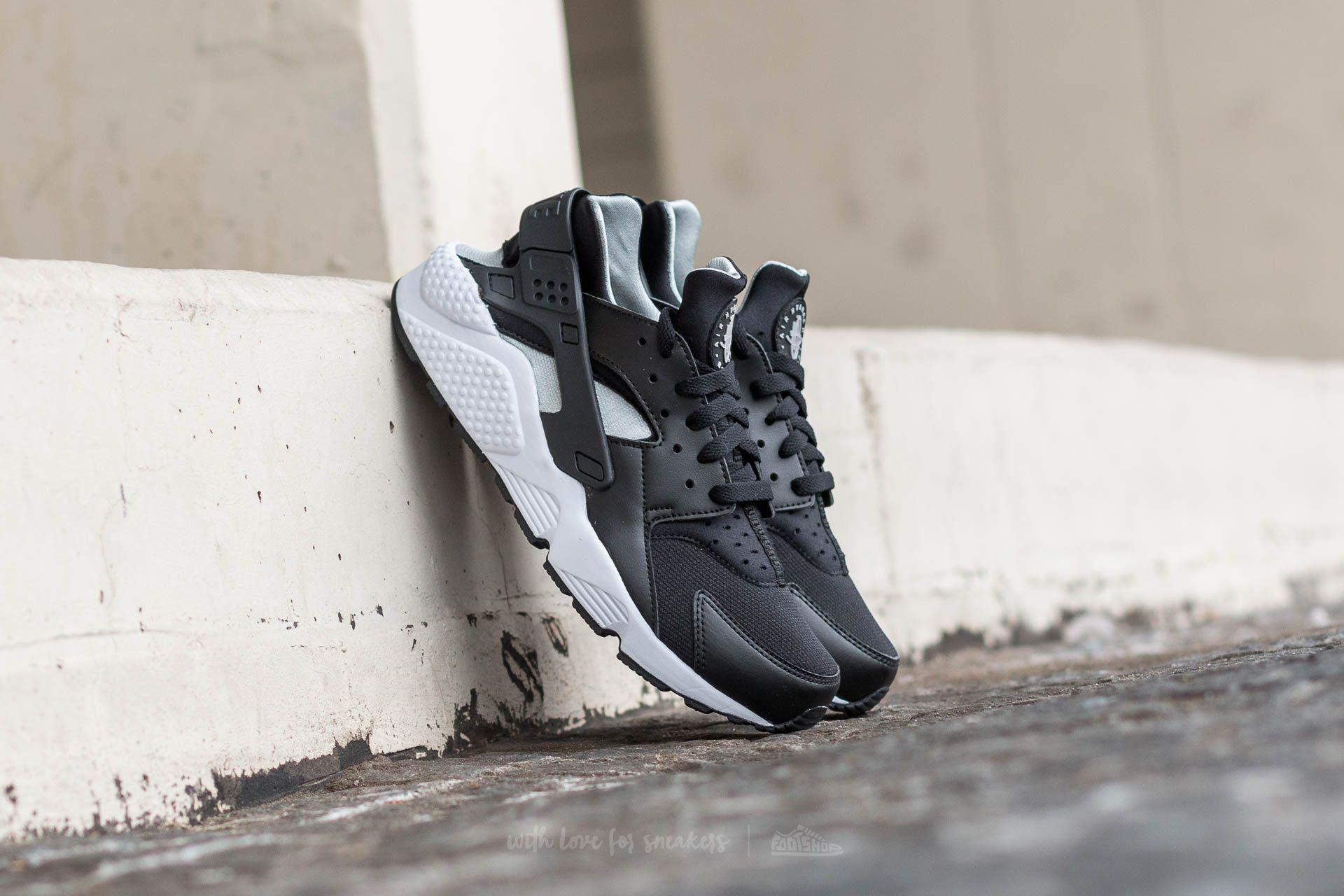 best sneakers d50fc b8c78 Nike Air Huarache. Black  Flt Silver-White