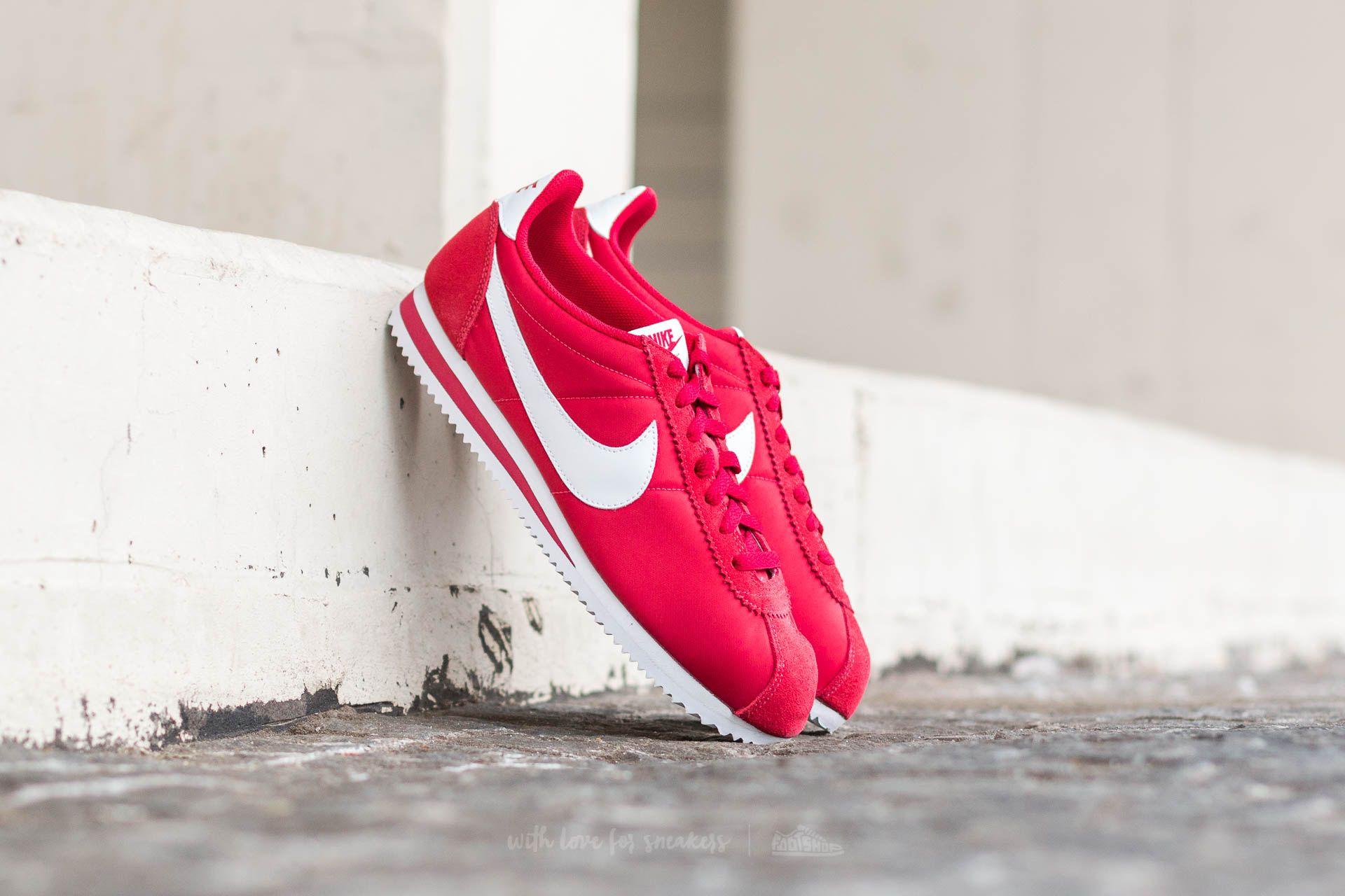 huge discount 45b8b 3f972 Nike Classic Cortez Nylon Gym Red/ White | Footshop