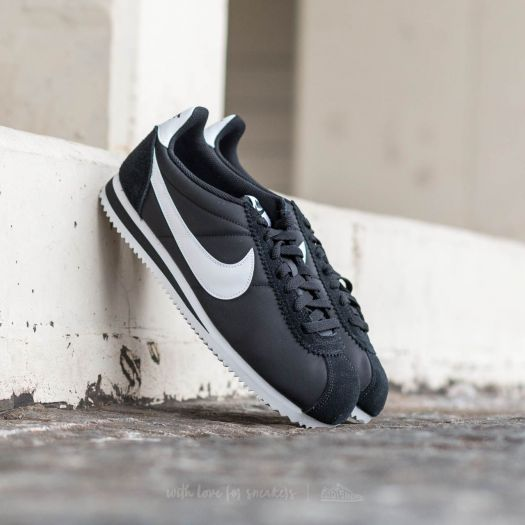 new concept d5841 95428 Nike Classic Cortez Nylon Black/ White | Footshop