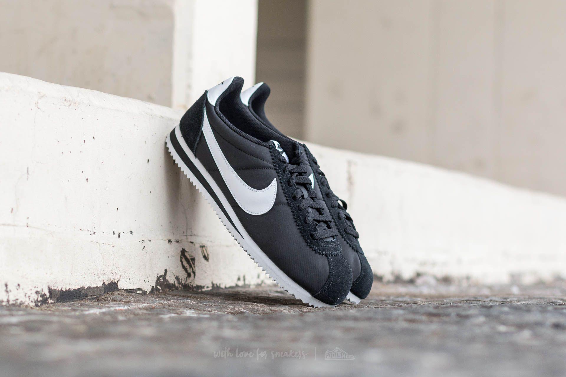 new concept 18de0 a0499 Nike Classic Cortez Nylon Black/ White | Footshop