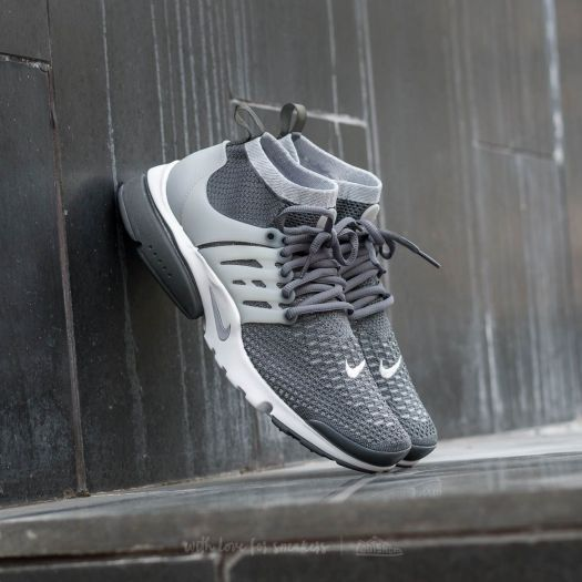 Nike Air Presto Flyknit UltraDark Grey/ Wolf Grey-White-Green Glow