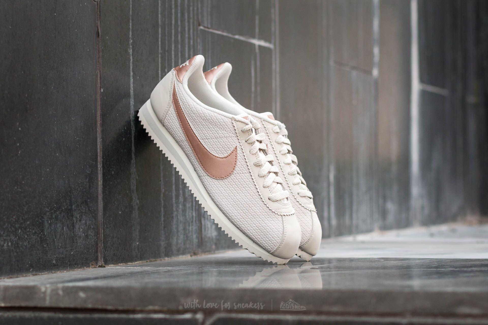 Buty Nike WMNS Classic Cortez Leather Damskie Light Bone