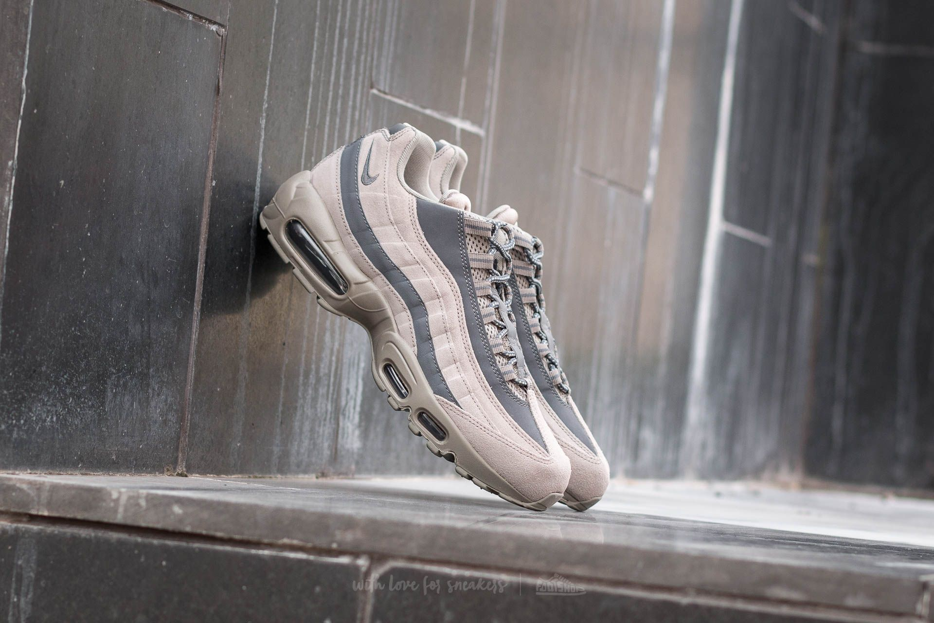 aa854e772c8 Nike Air Max 95 Essential Light Taupe  Dark Grey-Light Taupe ...