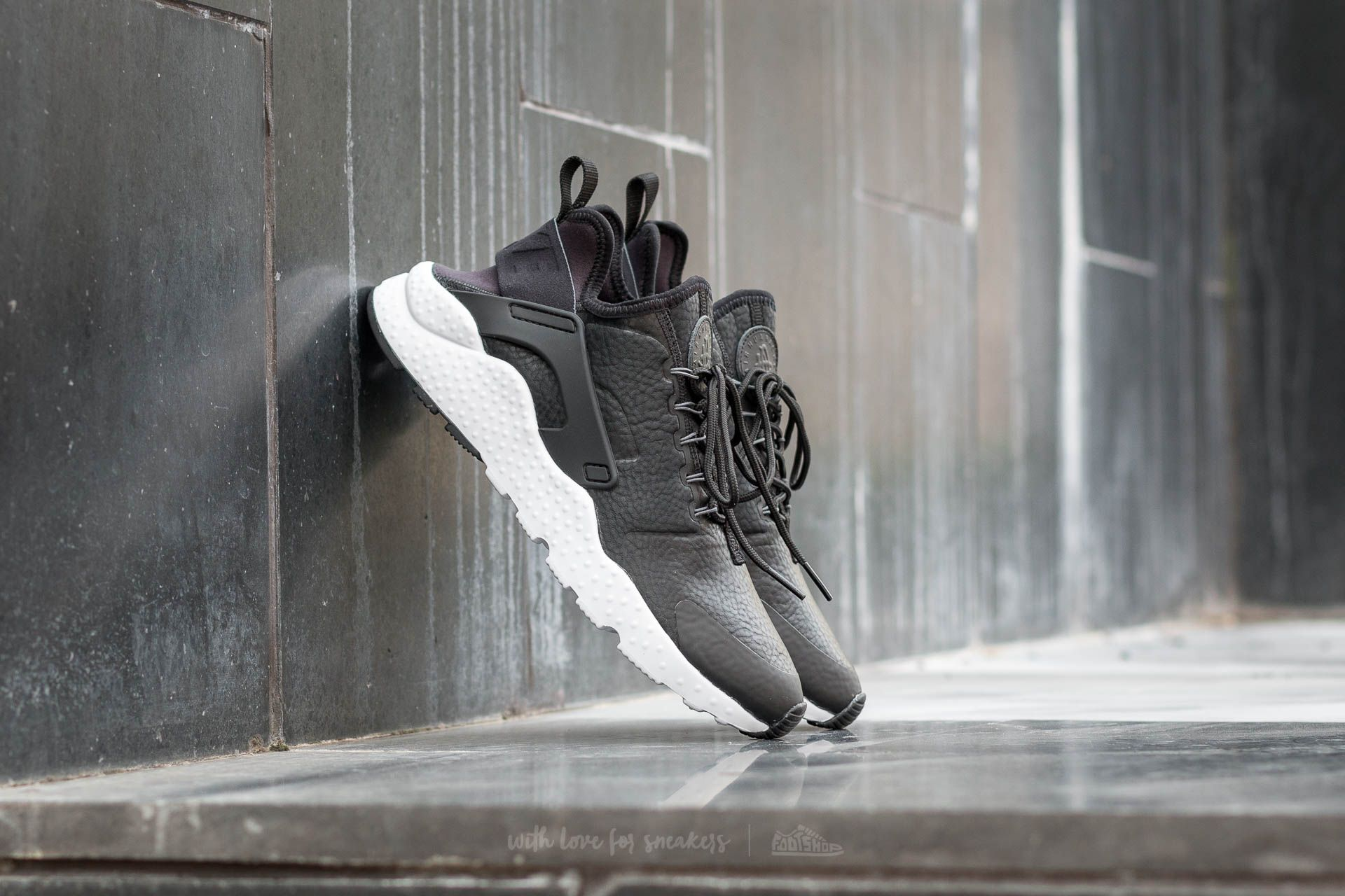 c60d42f55a01 Nike W Air Huarache Run Ultra Premium Black  Dark Grey-White ...