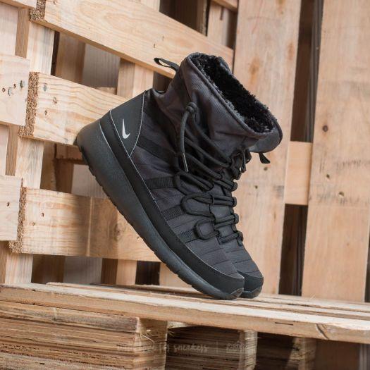 cheap for discount 6117e 80d3e Nike Roshe One Hi (GS) Black/ Metallic Silver | Footshop
