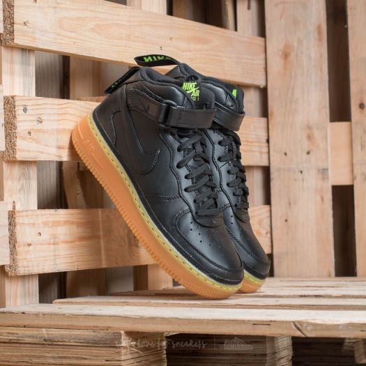 Nike Air Force 1 Mid LV8 (GS) Black/ Black-Gum Light Brown ...