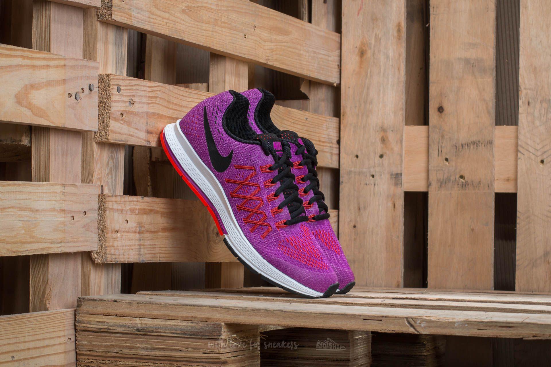 9a3556b2c9526 Nike Zoom Pegasus 32 (GS) Vivid Purple  Black-Bright Crimson ...