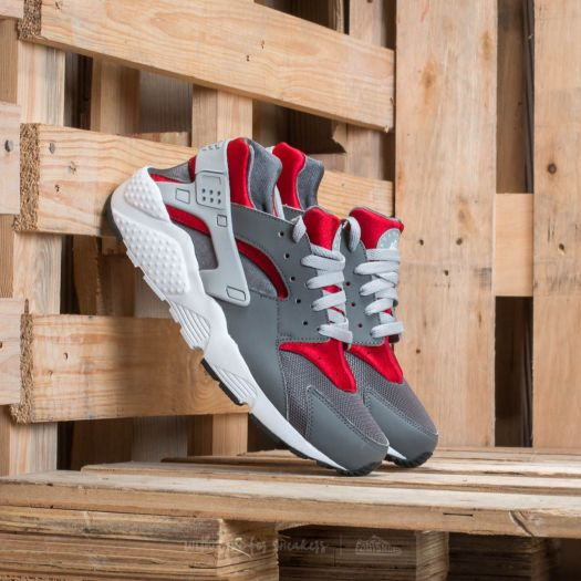 Nike Air Huarache Kids Wolf Grey Red