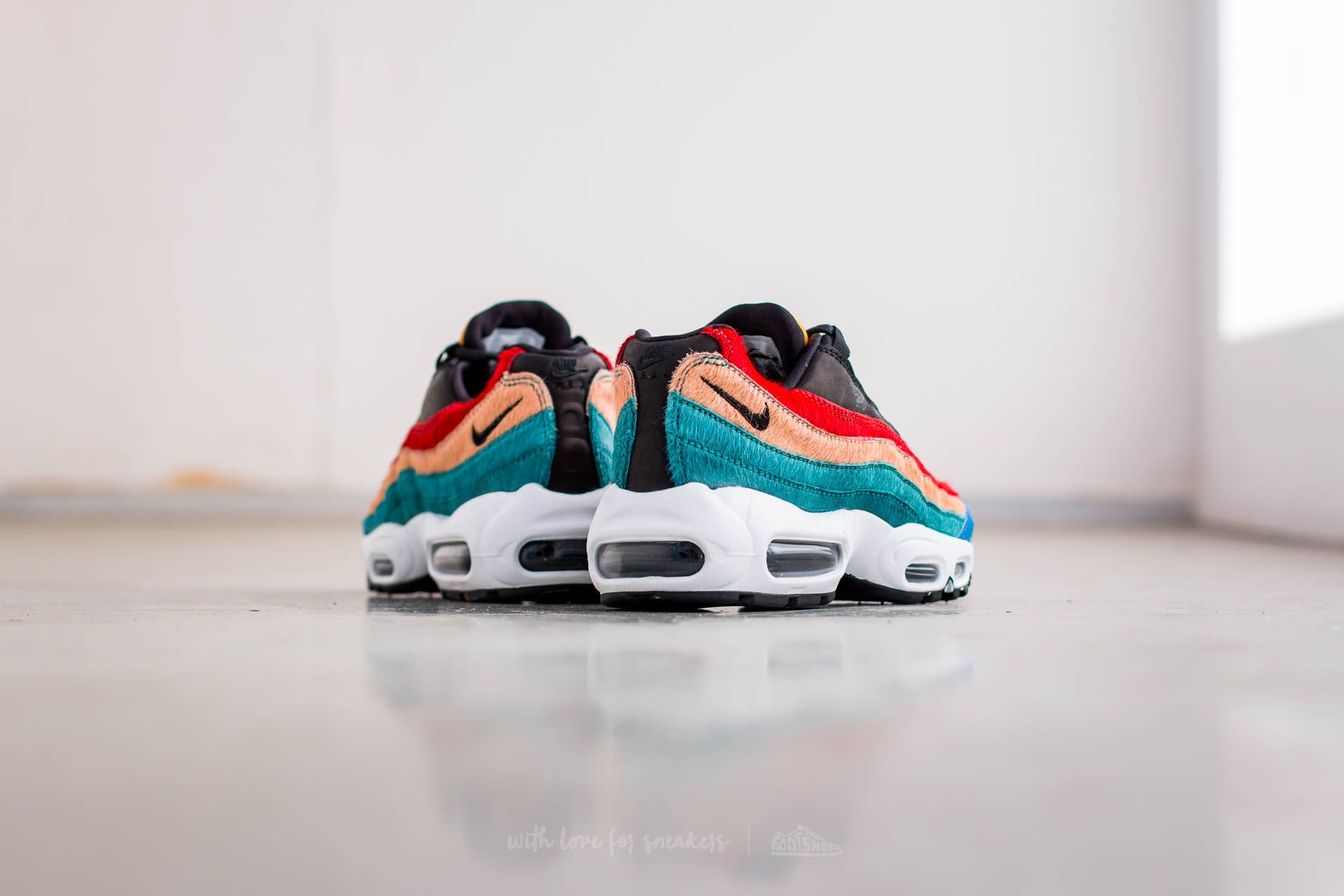 Nike Air Max 95 Premium Multi Color BlackBlack Dark Cayenne Rio Teal Top Deals