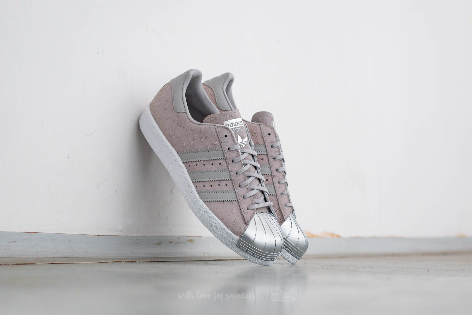 adidas Superstar 80s Metal Toe W Cool Grey  Cool Grey  Metallic Silver 1391bf1de3