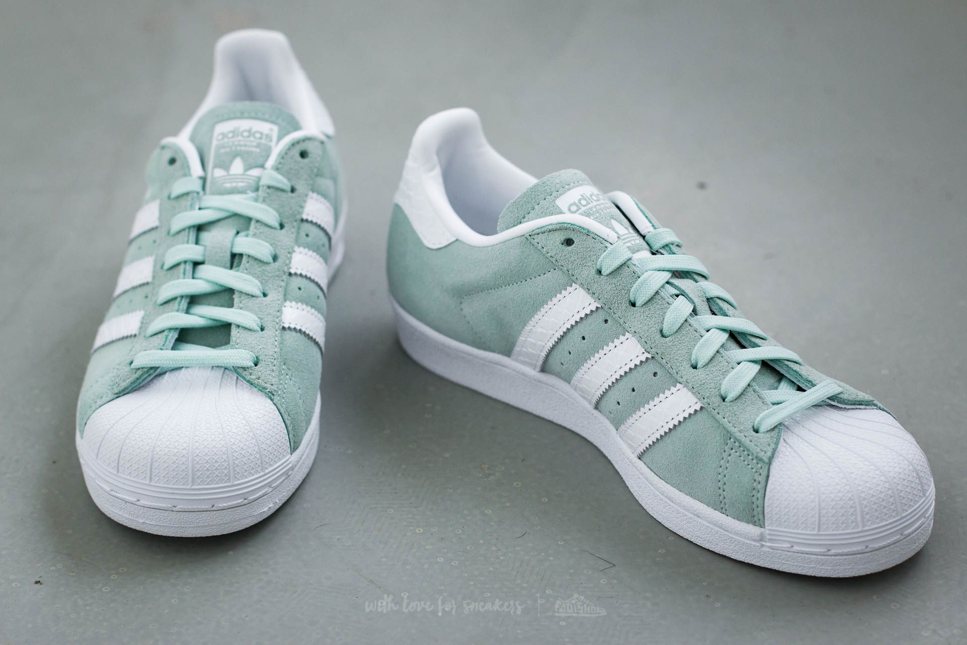 Women's shoes adidas Superstar W Ice Mint/ Ftw White/ Ftw White ...