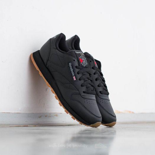 reebok classic black gum