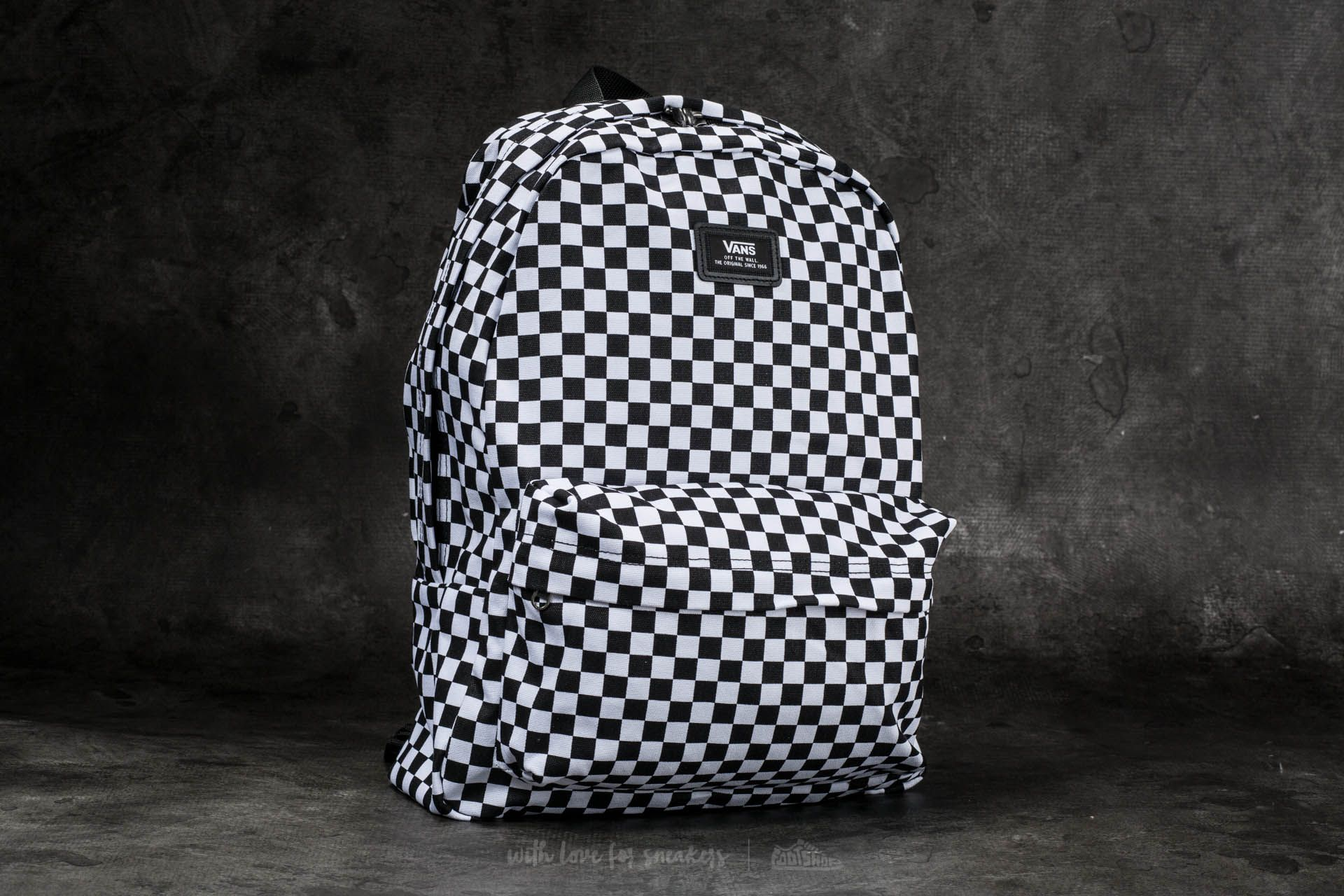 Vans old skool ii backpack black white checker
