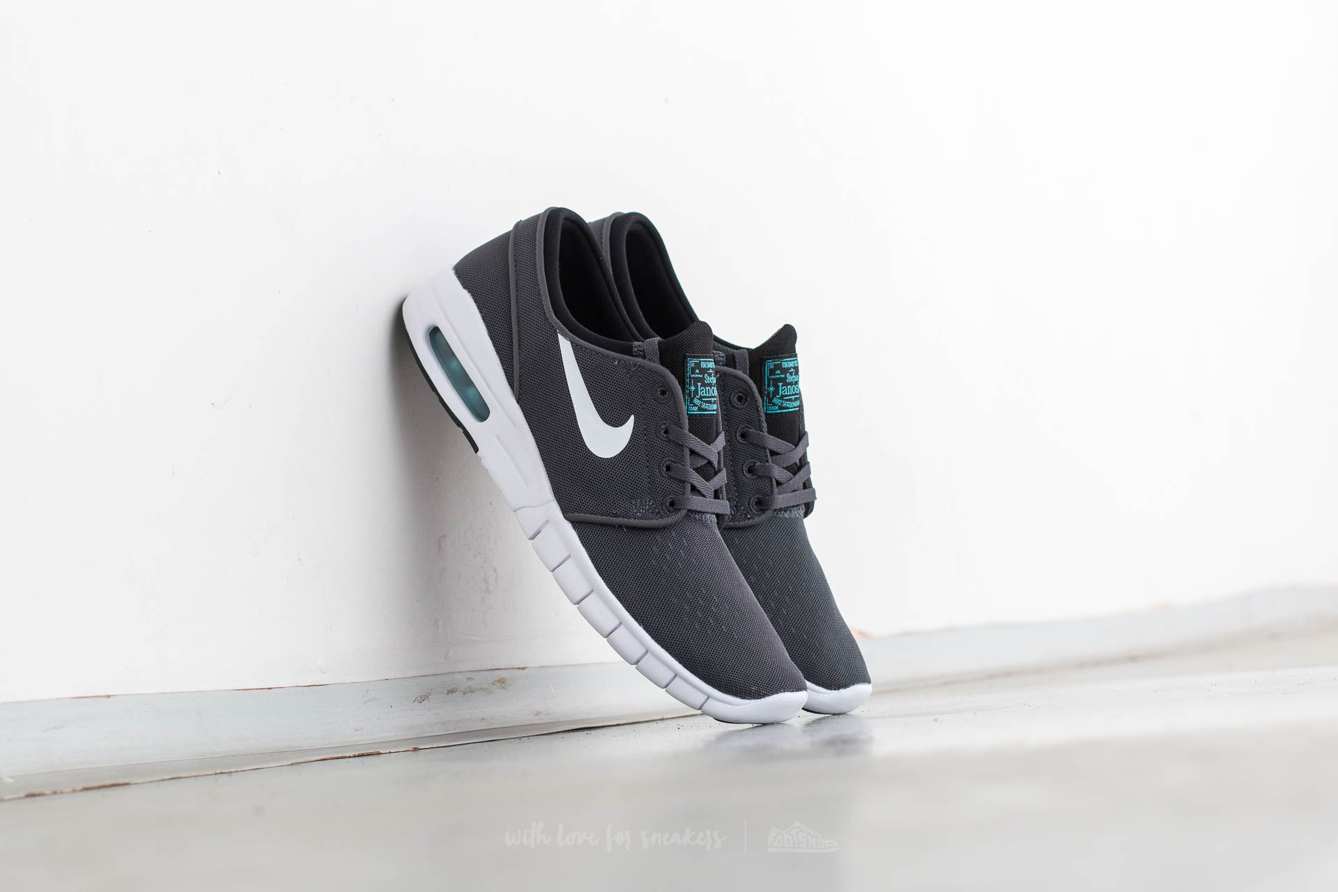 7a9107fb97 Nike Stefan Janoski Max Dark Grey/ White-Black-Gamma Blue ...