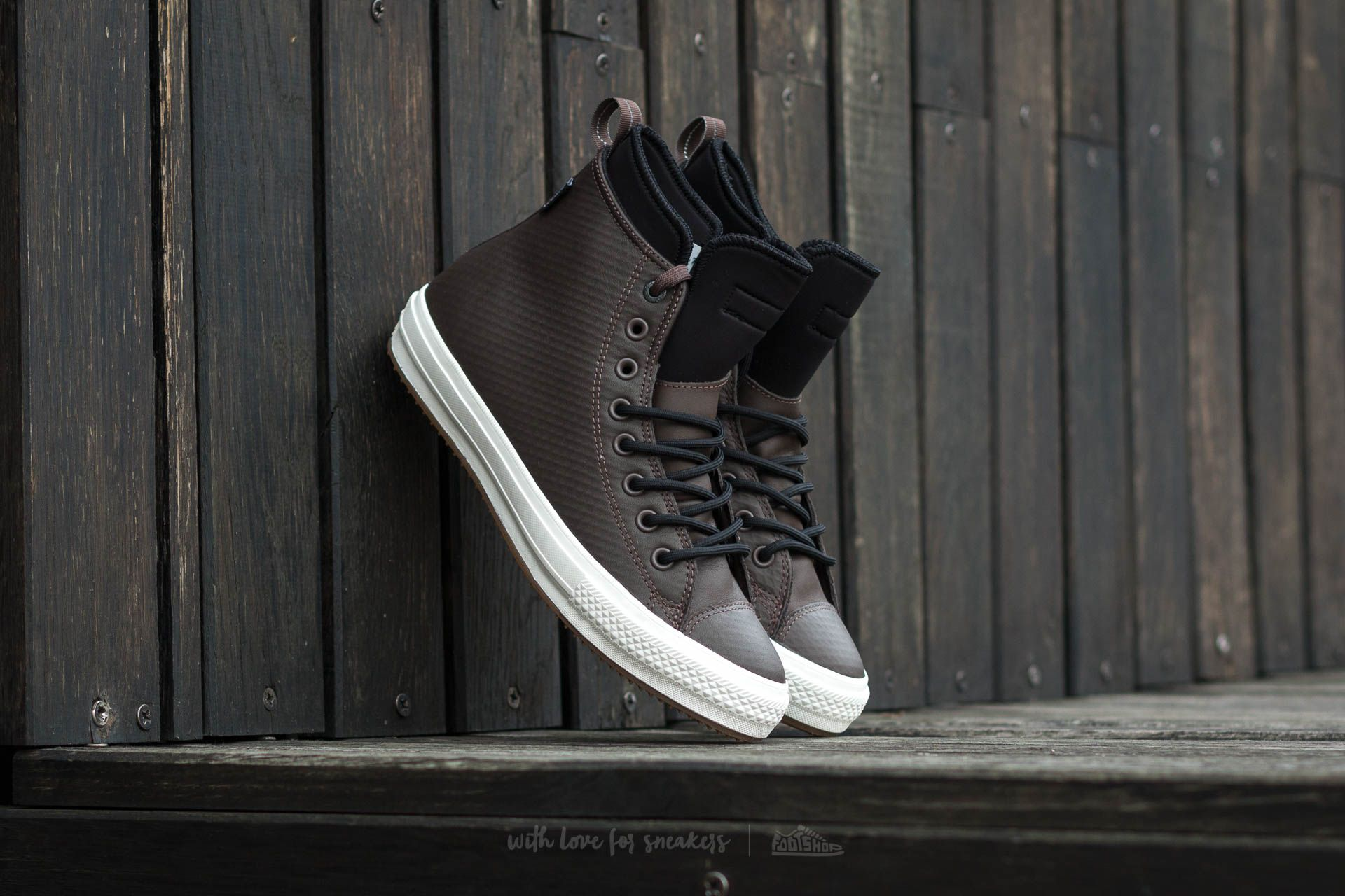 69079f95cf95 Converse Chuck Taylor AS II Boot Hi Dark Chocolate  Black  Egret ...