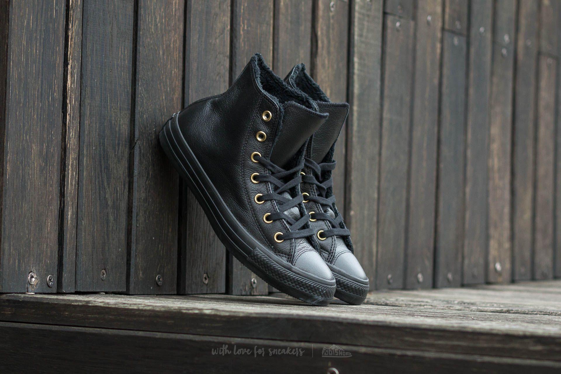 7d9f78abcb8d CONVERSE CHUCK TAYLOR ALL STAR Winter Knit+Fur Hi Black ...