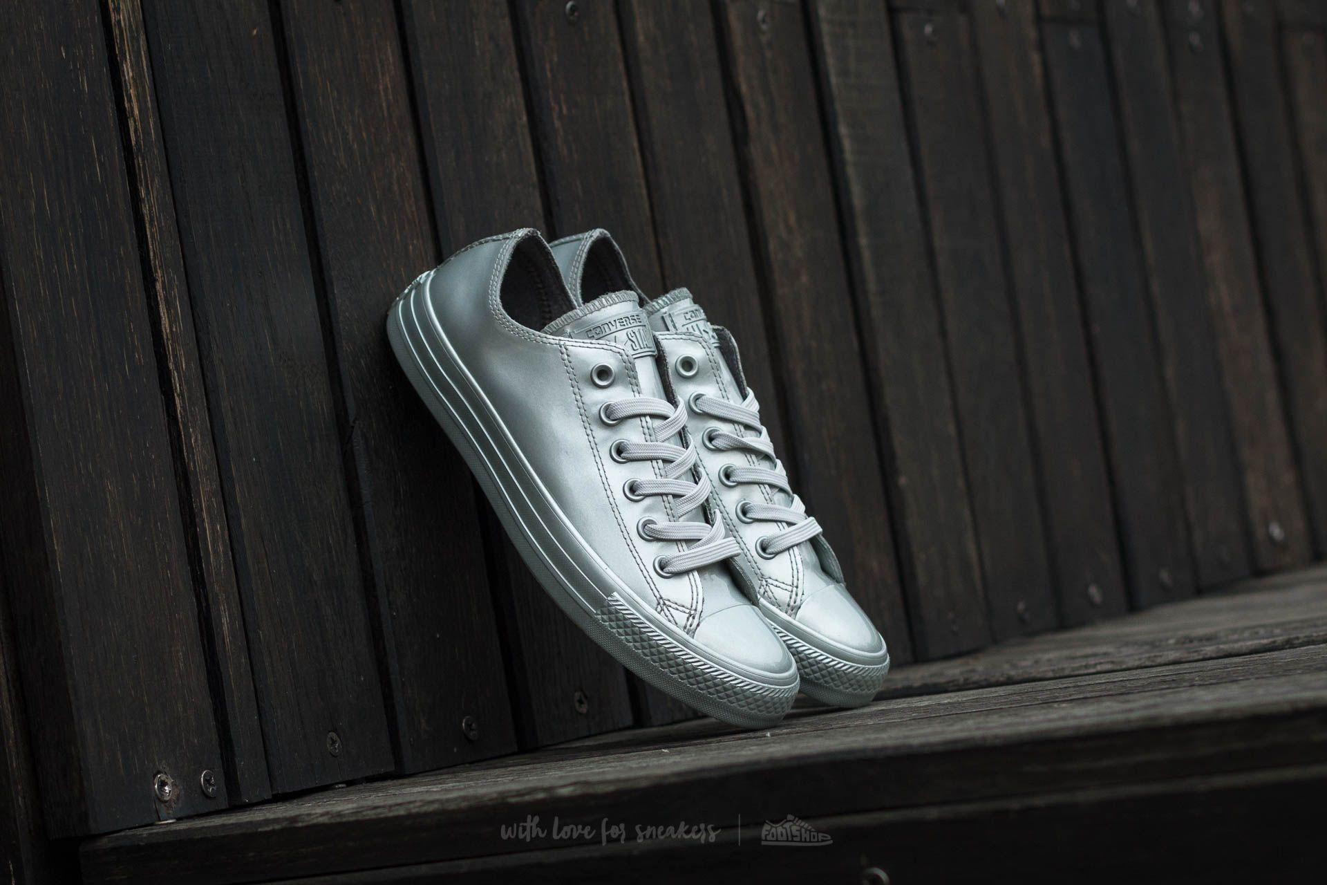 Converse Chuck Taylor AS Metallic Rubber OX Pure Silver  Pure ... 53ae7562d