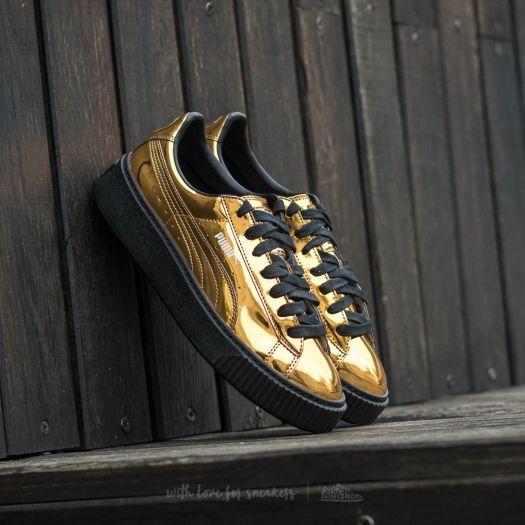 new style a2391 8cf75 Puma Basket Platform Metallic Gold-Gold-Puma Black ...