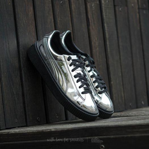 sale retailer d9160 e5a03 Puma Basket Platform Metallic Silver-Silver-Puma Black ...