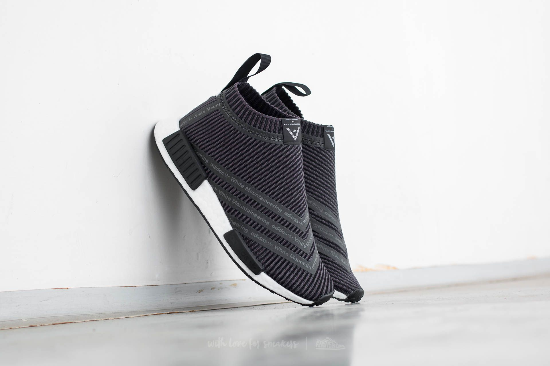 ca1e1c388f adidas x White Mountaineering NMD City Sock. Utility Black  Solid Grey  Core  Black