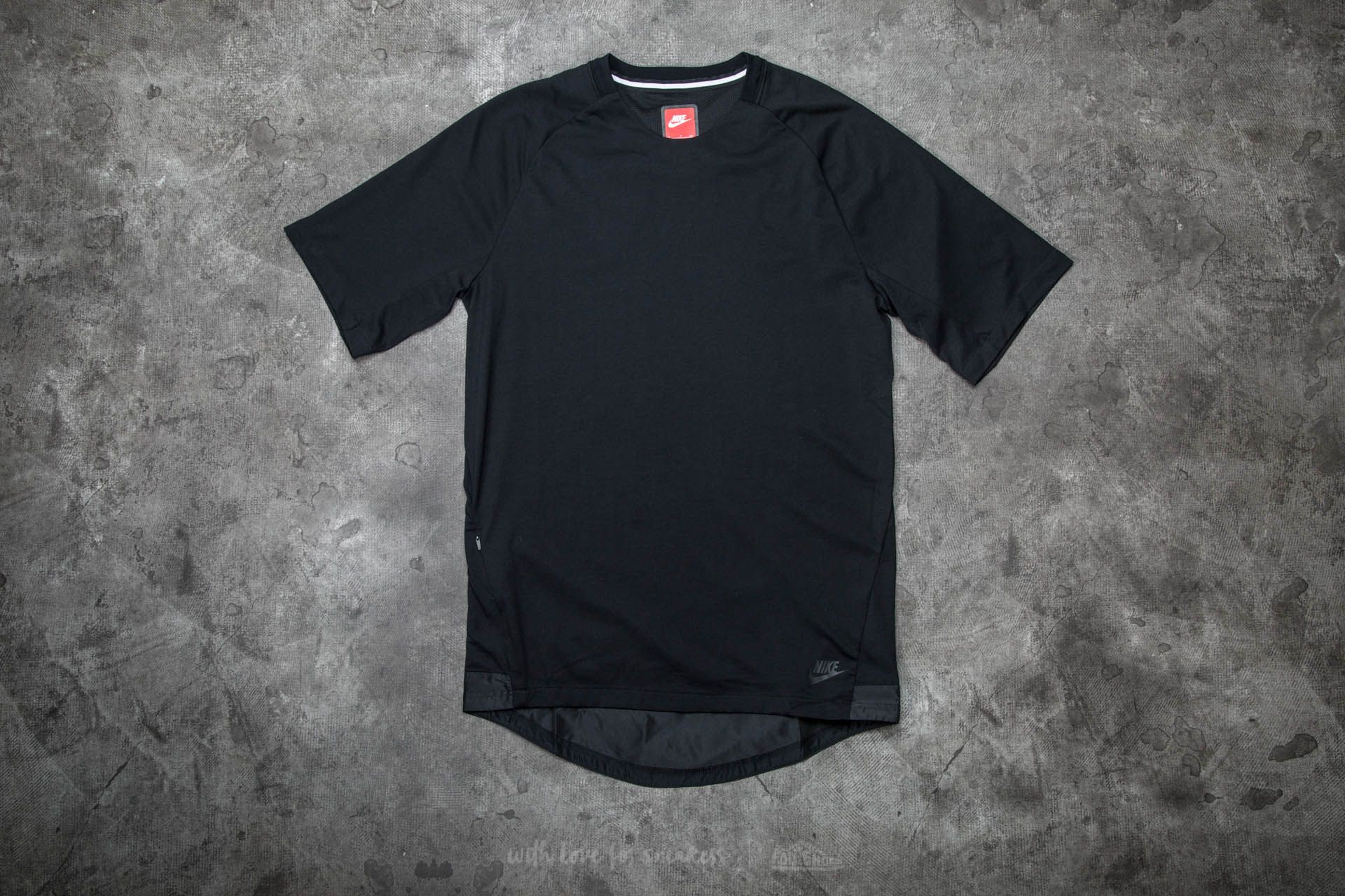 Nike Sportwear Bonded Short Sleeve Top Black