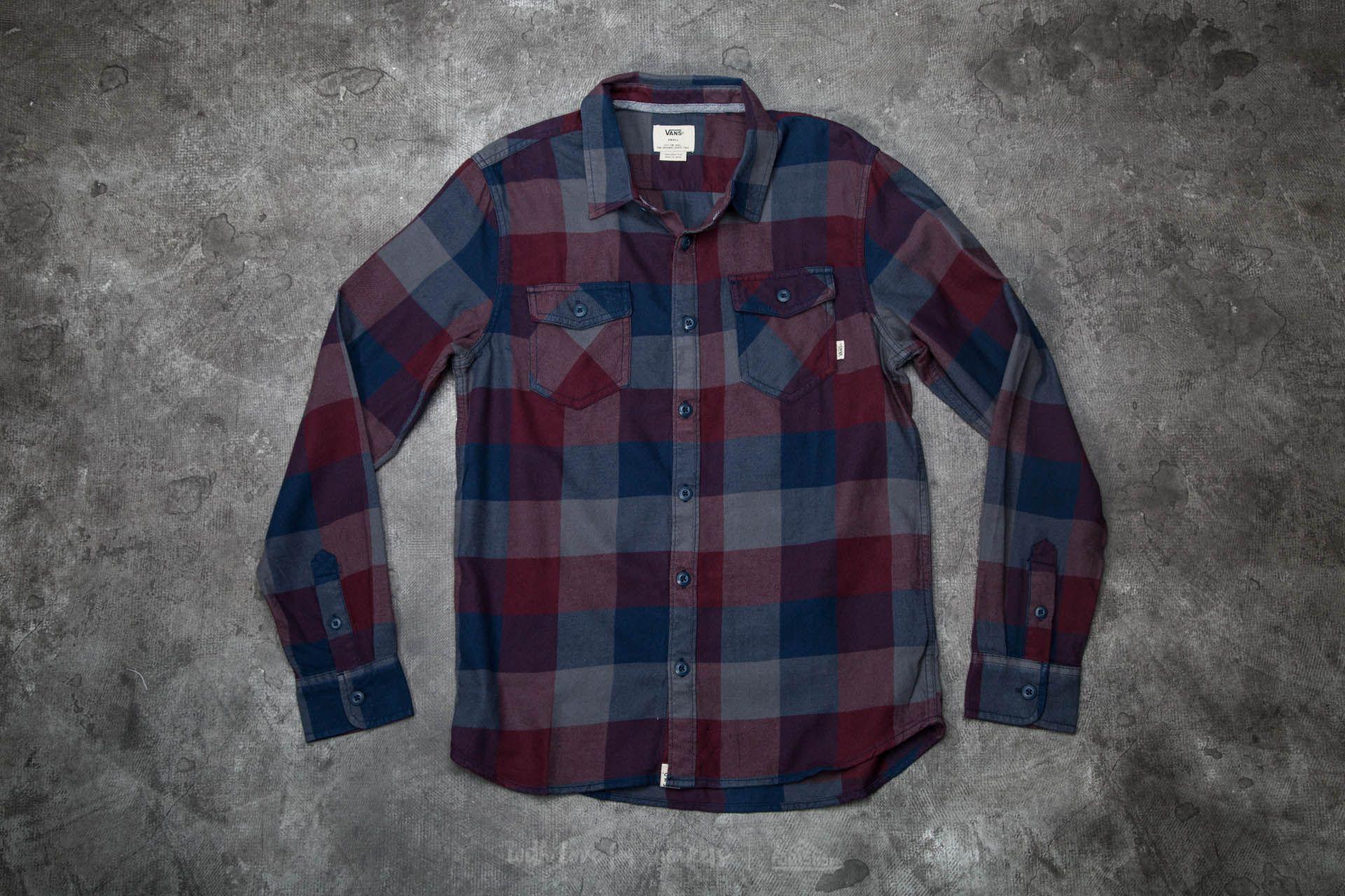 0a92566f01 Vans Box Flannel Shirt Dress Blues-Port Royale