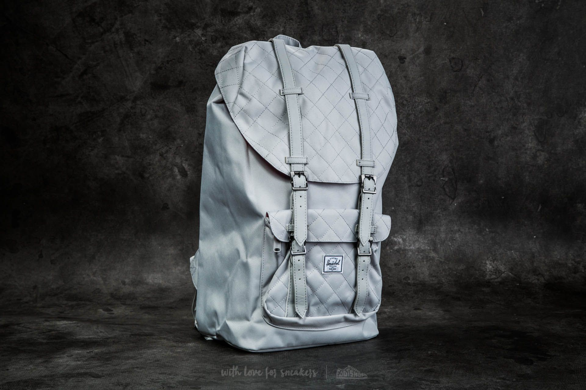 3fc4a58b4a1 Herschel Supply Co. Little America Backpack. Lunar Rock Quilted  ...