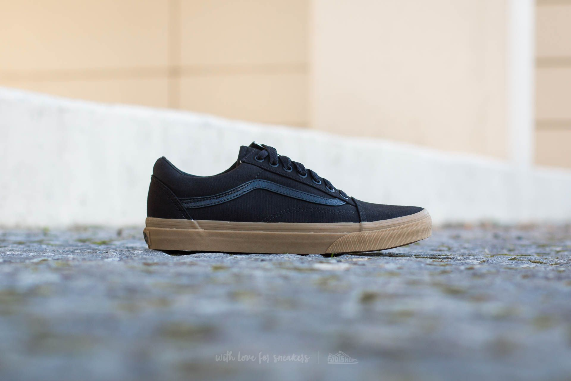 Vans Old Skool (Canvas Gum) Black Light Gum | Soyoudeal shoes